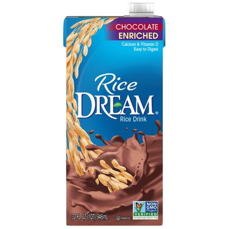 (4 pack) RICE DREAM Enriched Chocolate Rice Drink, 32 fl. oz. (Edensoy Milk)