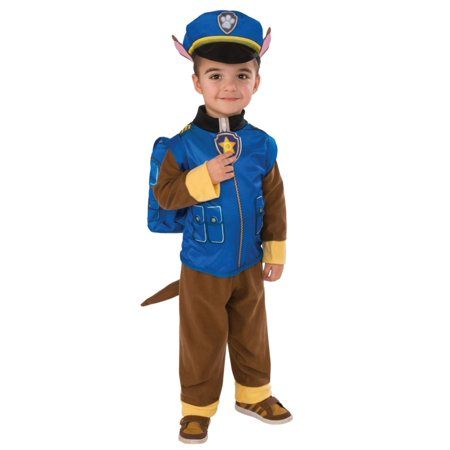 Toddler Boys Blue Paw Patrol Chase Costume Puppy Dog Jumpsuit Hat Pup Pack 2T-3T (Costumes Chasing Fireflies)