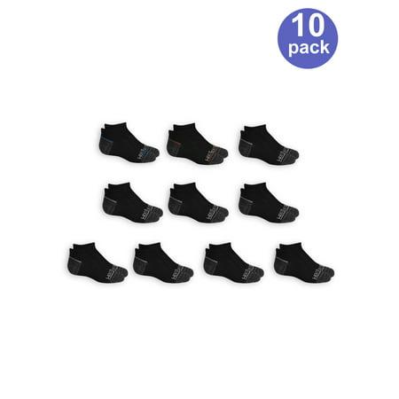 Flat Knit No Show Socks, 10 Pairs (Little Boys & Big Boys) for $<!---->