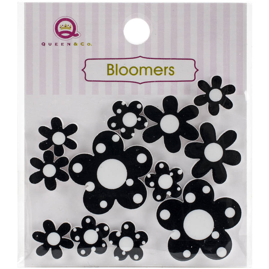 Bloomers Resin Flowers Assorted Sizes, 12pk