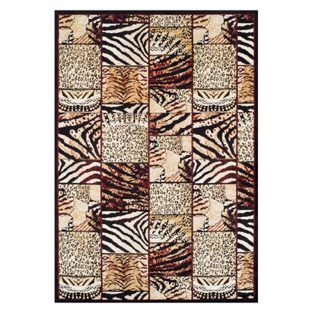 Ferrera Collection Area Rug Cheetah Walmart Com