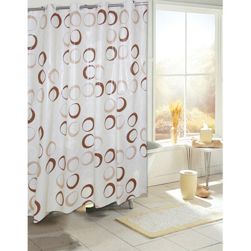 Carnation Home Fashions Ez On Circles Grommet Eva Shower Curtain