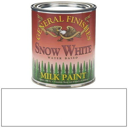 QSW Milk Paint, 1 quart, Snow White, Milk Paint can be used indoors or out and applied ot furniture, crafts and cabinets By General Finishes From