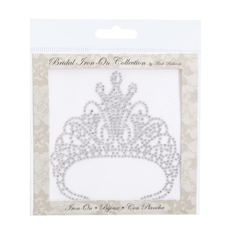 Mark Richards Bridal Iron-On: Tiara, 4 x 4 inches