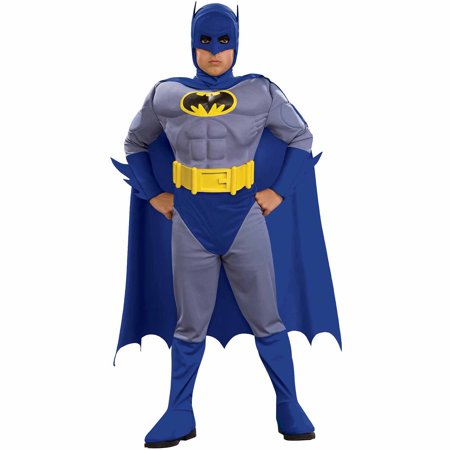 Batman Brave Muscle Child Halloween Costume - Batman & Robin Costumes For Adults