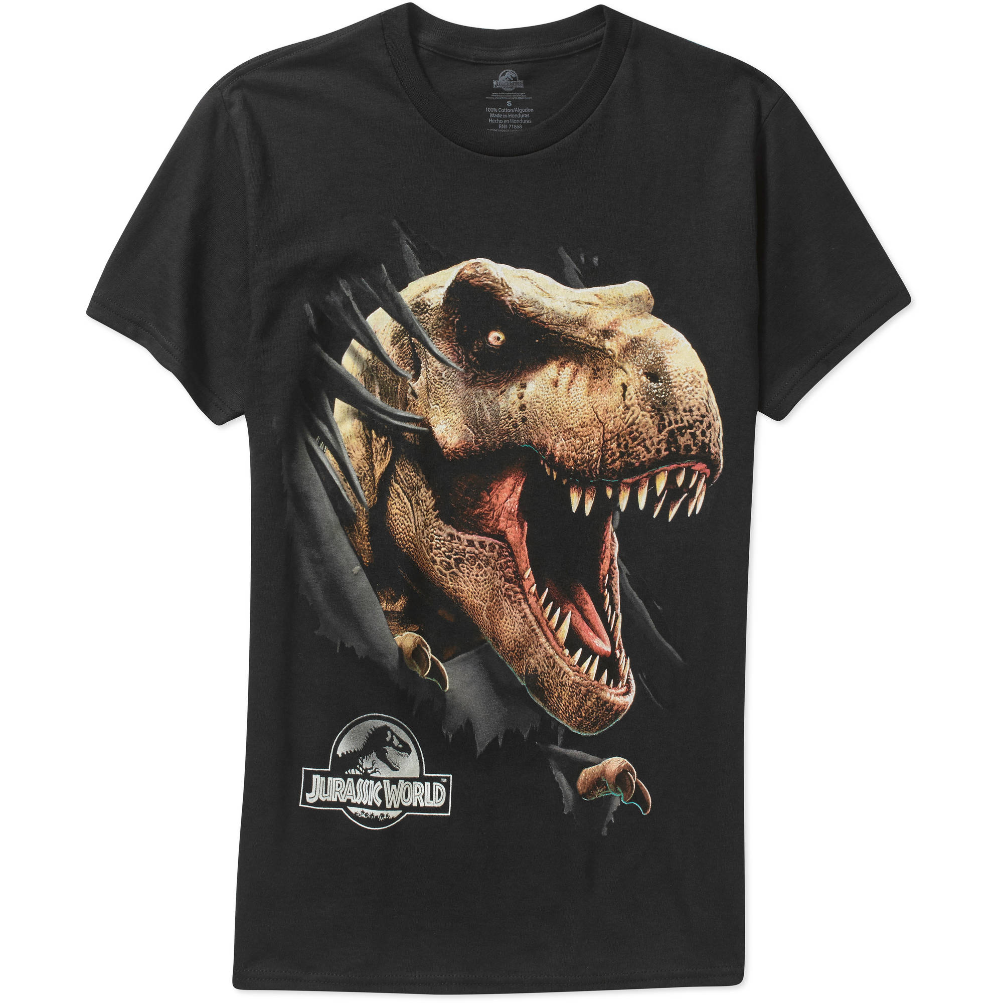 NBC Universal Jurassic World Dinosaur Big Men's Graphic Short Sleeve T-Shirt