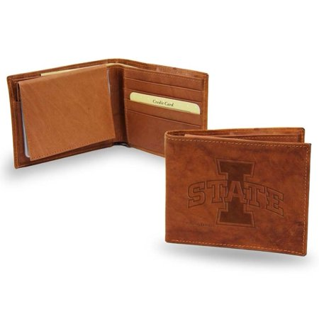 - Iowa State Embossed Leather Bifold Wallet (Manmade Interior)
