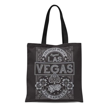 SIDONKU Canvas Tote Bag Ace Vintage Gamble Casino Las Vegas Tee Graphics Spade Durable Reusable Shopping Shoulder Grocery Bag ()