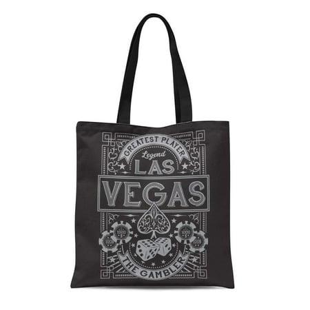 SIDONKU Canvas Tote Bag Ace Vintage Gamble Casino Las Vegas Tee Graphics Spade Durable Reusable Shopping Shoulder Grocery Bag