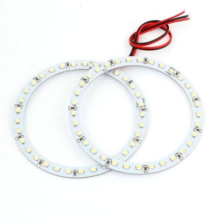 2Pcs DC 12V Car White 100mm 33 SMD LED Angel Eyes Ring Light Headlight internal - image 1 of 1