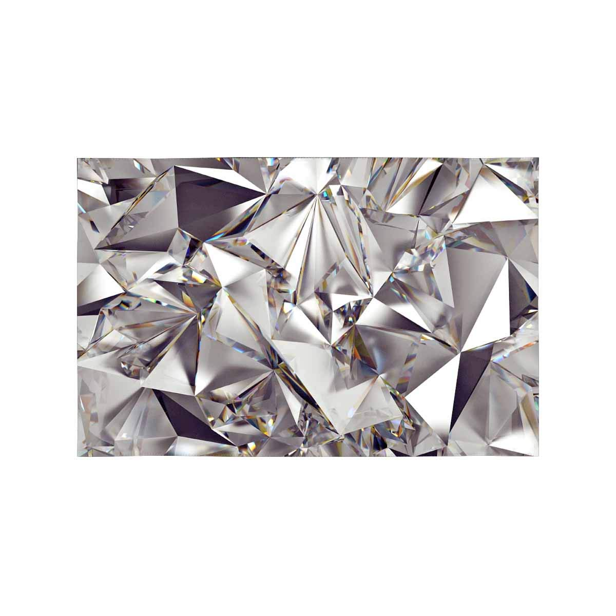 Mkhert Funny Luxury 3d Abstract Crystal Diamond Placemats Table Mats For Dining Room Kitchen Table Decoration 12x18 Inch Set Of 4 Walmart Com Walmart Com
