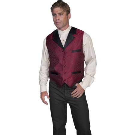 Scully Old West Vest Mens Authentic Smoking Jacket Design RW210 - Playboy Smoking Jacket