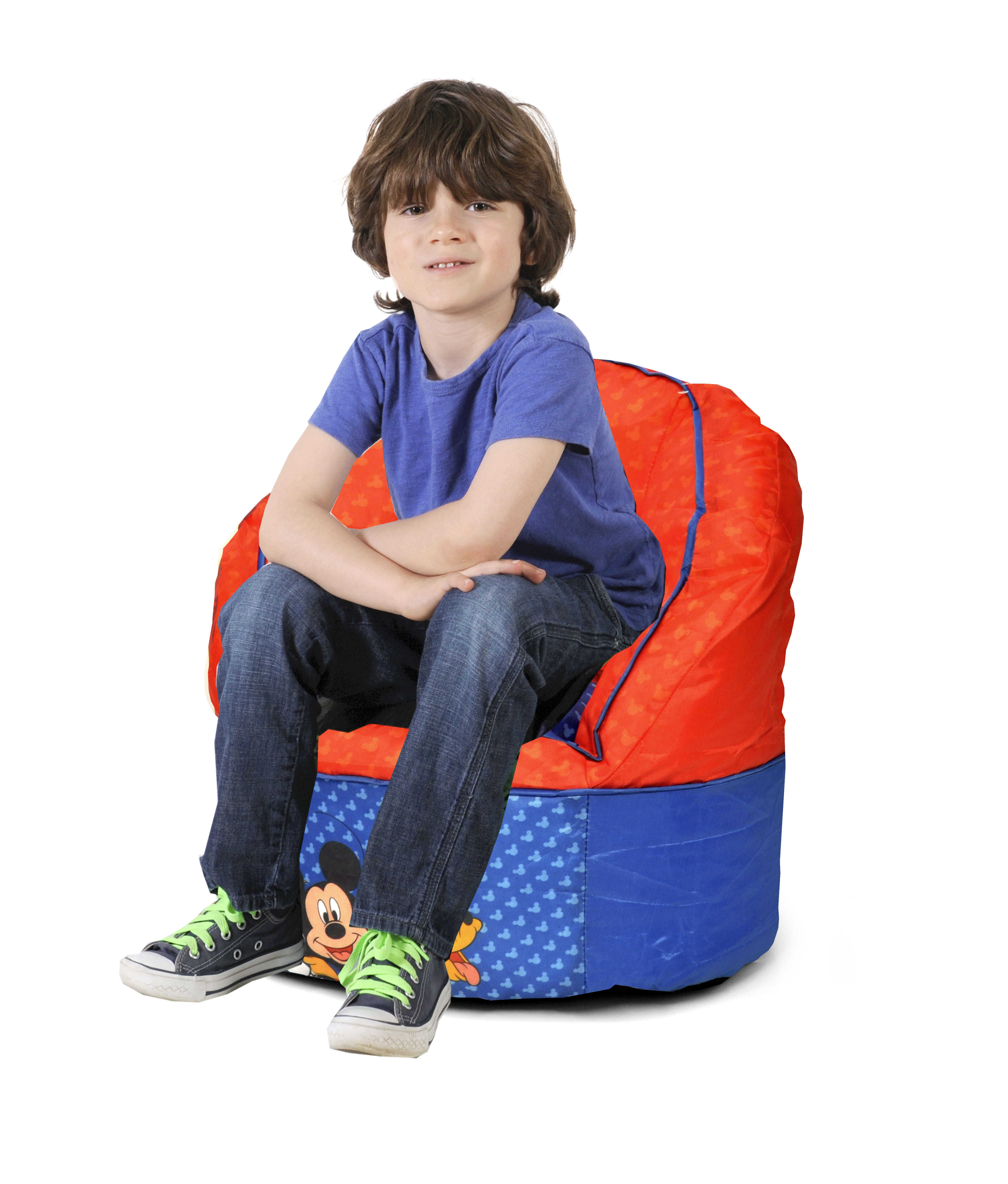 Excellent Disney Mickey Mouse Kids Bean Bag Chair Walmart Com Caraccident5 Cool Chair Designs And Ideas Caraccident5Info