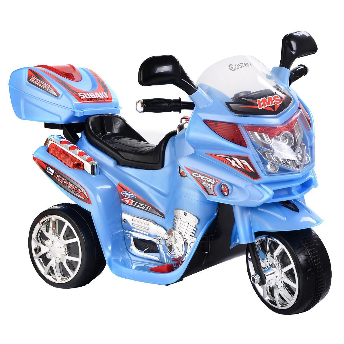Kids Ride On Motorcycle 6V Battery Powered Electric Toy Power Bicyle New Blue