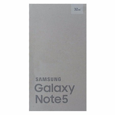 Samsung Galaxy Note 5 Box Only With Tray NO PHONE White Pearl