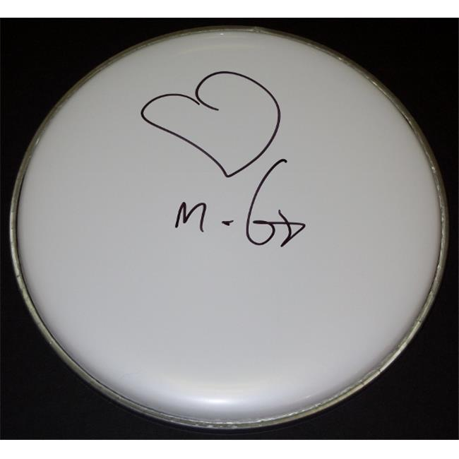 Moby DJ Singer and Song Writer Autographed Drum Head with Heart Drawing