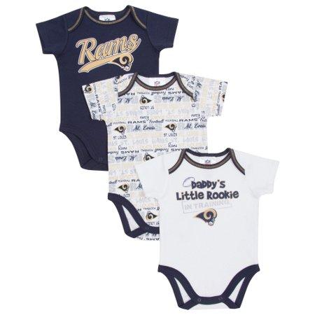 Classic St. Louis Rams  Infant 3-Piece Bodysuit Creeper Set - Gray