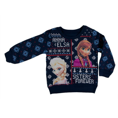 Frozen - Sisters Forever Toddler Ugly Christmas Sweater Blue Sweatshirt - Frozen Forever
