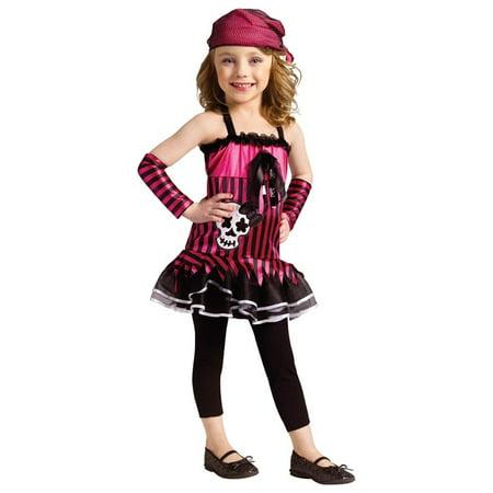 ROCKIN SKULL PIRATE TODDLER COSTUME (Toddler Girl Pirate Costume)