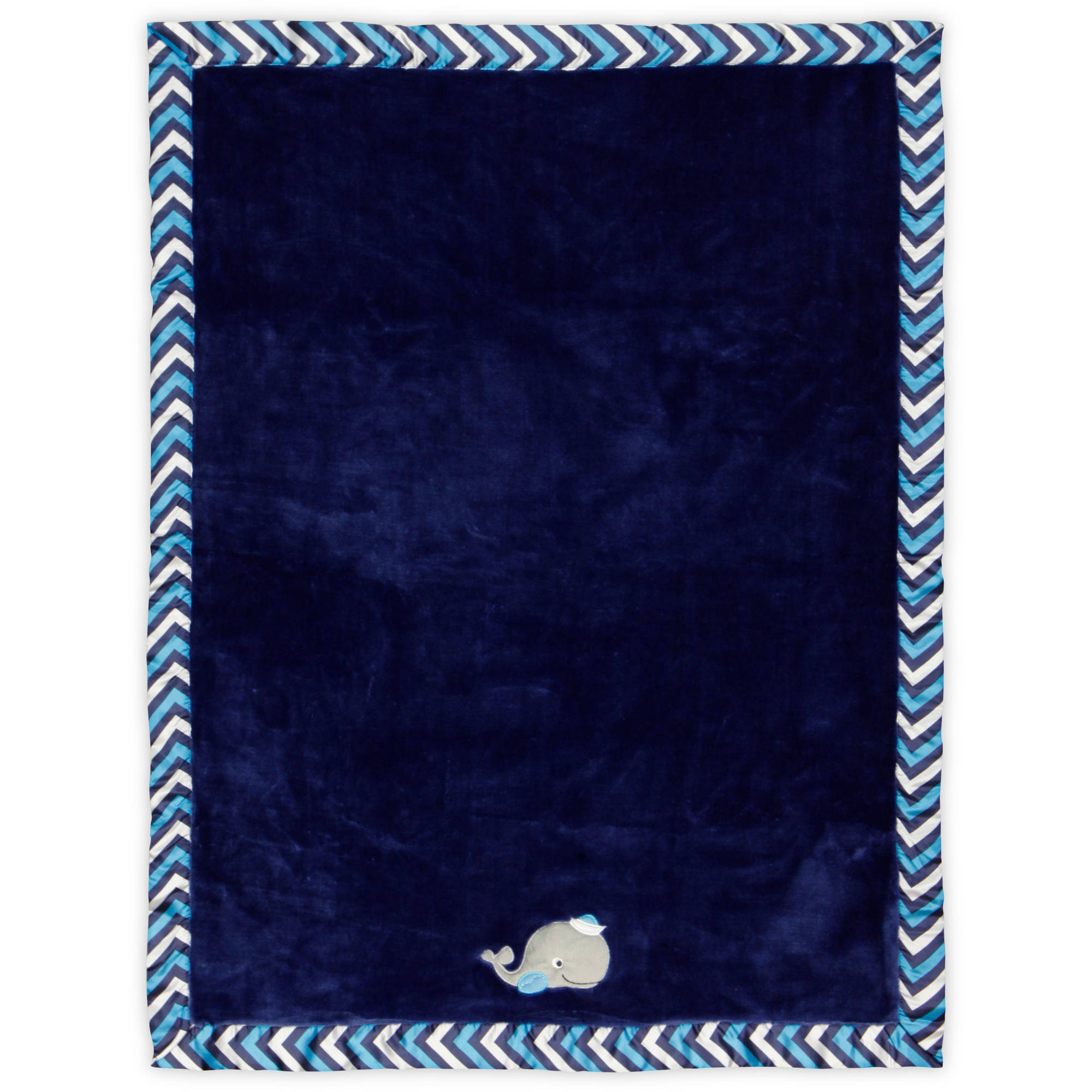 Bananafish Studio Anchors Away Silky Solid Blanket