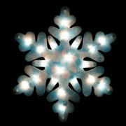 20 lighted shimmering blue and white snowflake christmas window silhouette decoration