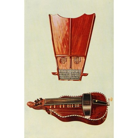 Musical Instruments 1921 Bell Harp & Hurdy-Gurdy Canvas Art - William Gibb (18 x (Annual Musical Bell)