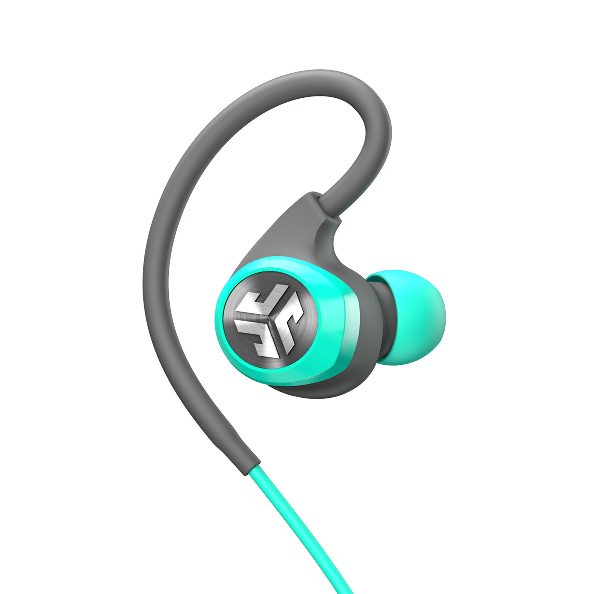 JLab Audio Epic2 Bluetooth 4.0 Wireless Sport Earbuds - Teal - GUARANTEED fitness, waterproof IPX5 rated, skip-free sound, pristine high-performance 8mm sound drivers, 12 hr play time w/ microphone