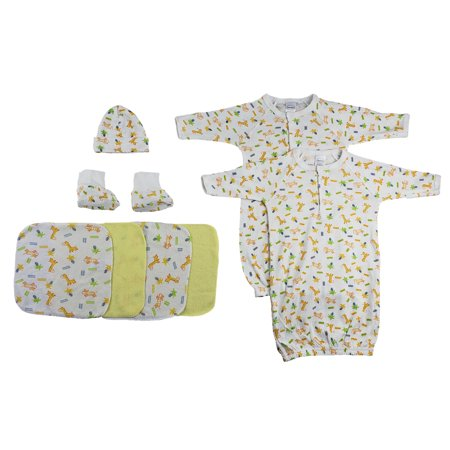 Gowns, Cap Booties and Washcloths - 8 Pc Set](Children's Cap And Gown)