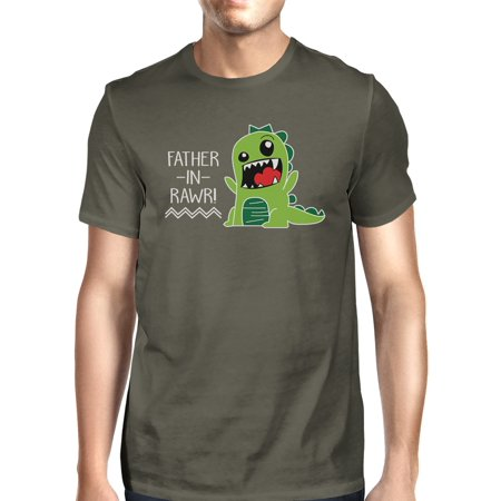 365 Printing Father-In-Rawr Men's Dark Gray Funny Graphic Tee For Fathers (Fathers Day In The Uk)