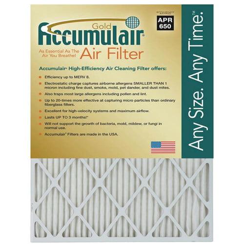 """Accumulair Gold 1"""" Air Filter, 4-Pack"""