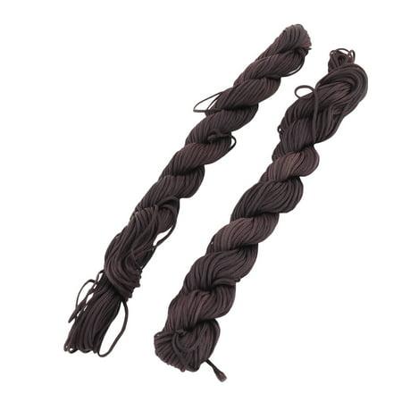 Family Nylon Chinese knot Necklace Bead DIY Hand Weaving Line 21.9 Yards 4 Pcs - image 1 de 4