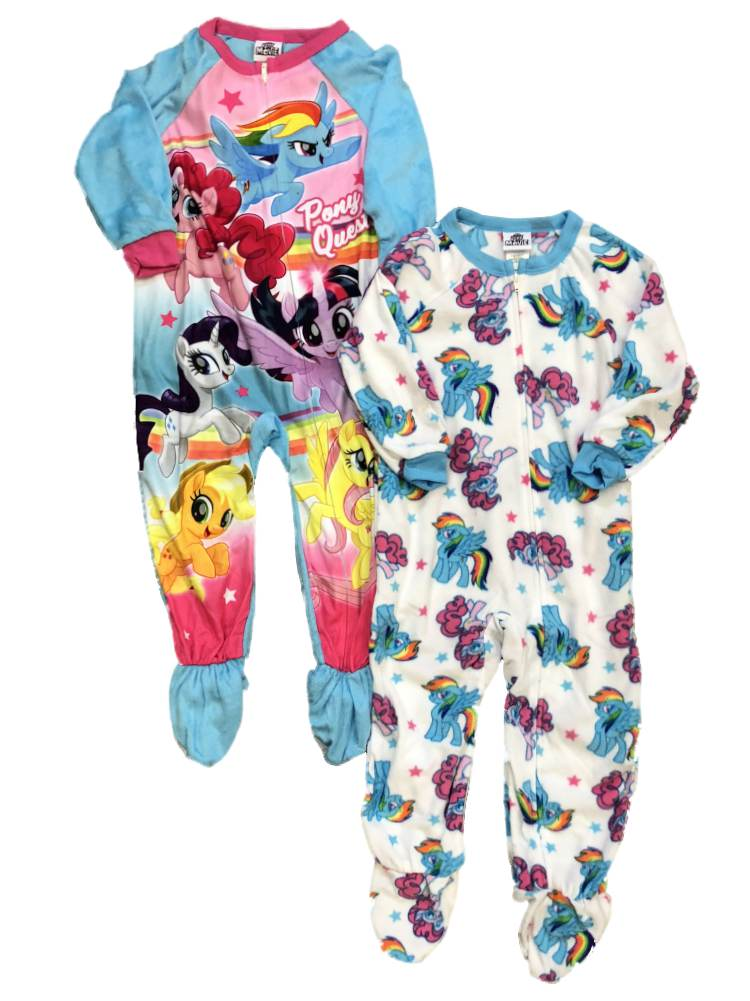 Toddler Girls My Little Pony 2pc Sleeper Set Pajamas Rainbow Dash Sleep & Play