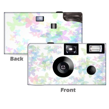 5 Pack Butterfly Enchantment Disposable Camera.  Birthday, Wedding, Parties, from CustomCameraCollection WM-80029-C