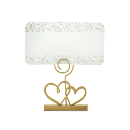 Le Prise Double Heart Place Card Holder (Set of 2) (Set of 6)