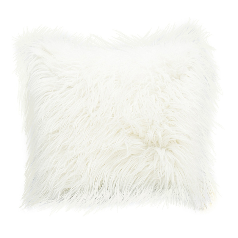 Fluffy Fur Plush Pillow Case Waist Throw Cushion Cover Soft Home Sofa Decor