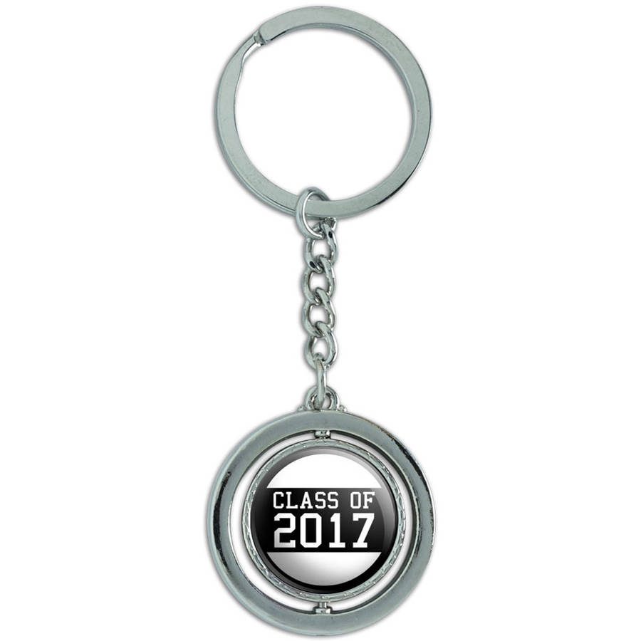 class of 2017 graduation spinning metal key chain keychain