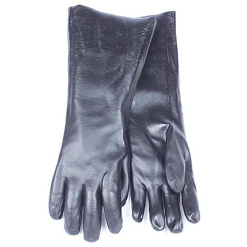 Smv Industries 7188CG Chemical Glove, Black PVC, Large, 18-In.