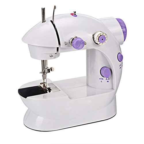 eshion Mini Portable Sew 2-Speed Sewing Machine + 4 Bobbins(US Stock)