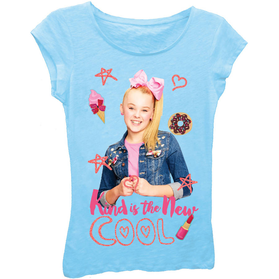 Jojo Siwa Girls' 'Kind Is the New Cool' Short Puff Sleeve Graphic ...