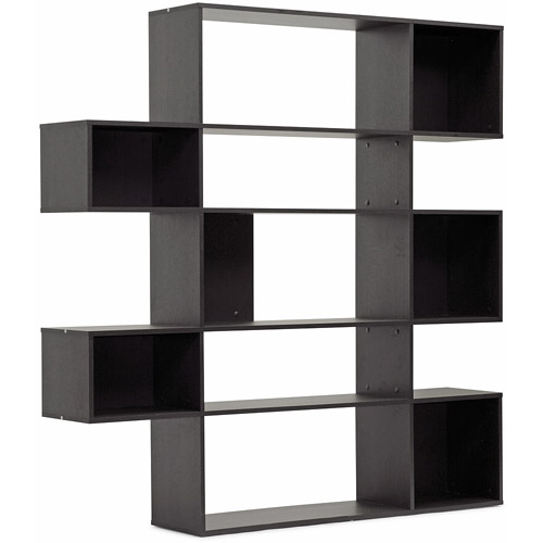 Lanahan Dark Brown 5-Level Modern Display Shelf