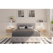 2fe6b26ee6a DHP Rose Upholstered Platform Bed with Under Bed Storage and Wooden Slats