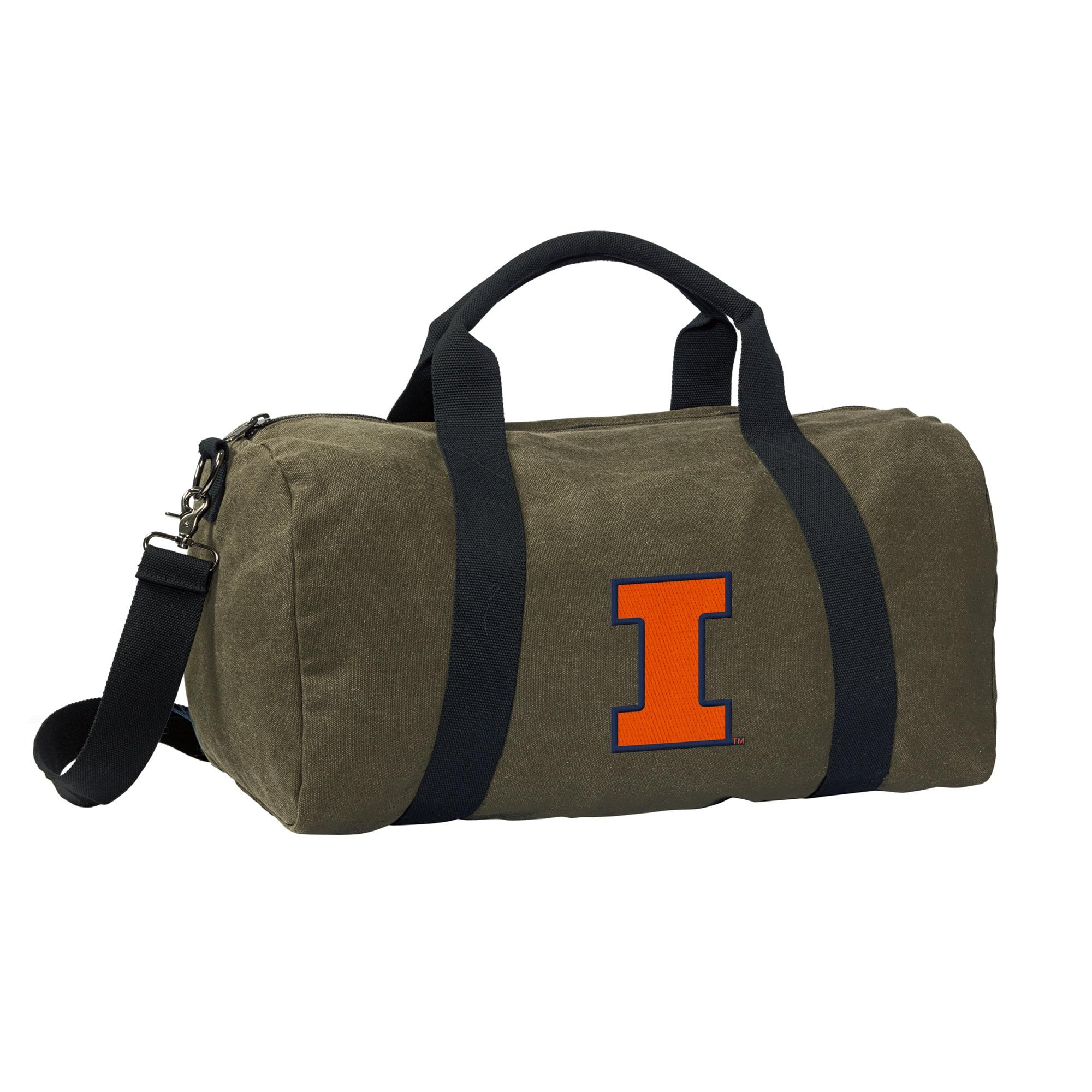Illini Duffle Bag CANVAS University of Illinois Luggage Bag by