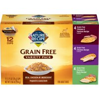 (12 Pack) Nature's Recipe Original Variety Pack, Grain Free, Wet Dog Food, 2.75-Ounce
