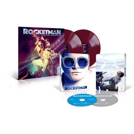 Rocketman (Walmart Exclusive) (Steelbook Blu-ray) + Soundtrack (Purple Vinyl) (Blu-ray) (Walmart