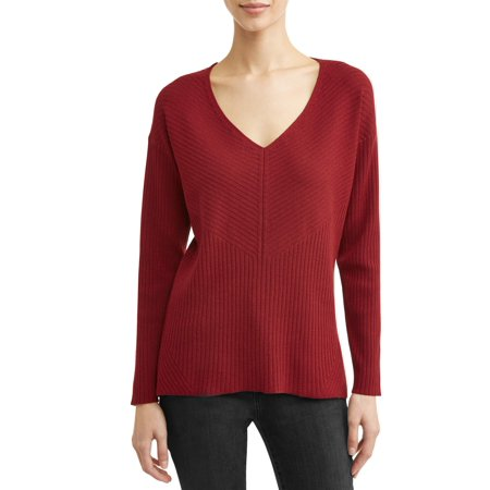 Women's Relaxed V-Neck Sweater