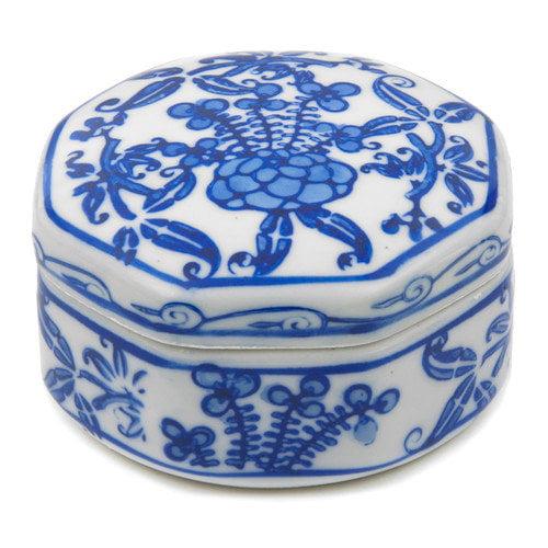 Floral Small Porcelain Jeweler Box