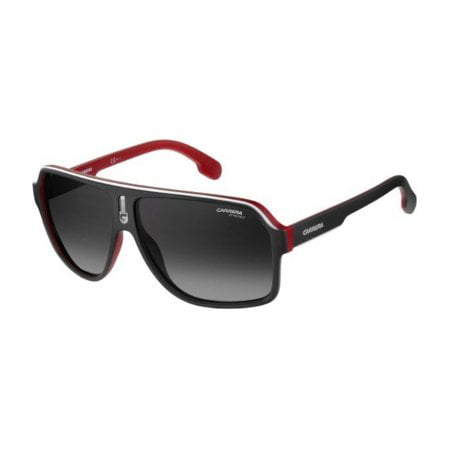 Carrera Men's Ca1001s Aviator Sunglasses, Matte Black Red/Dark Gray Gradiet, 62 (Sunglasses Carrera 2014)