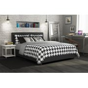 DHP Maddie Upholstered Faux Leather Bed, Multiple Sizes and Colors