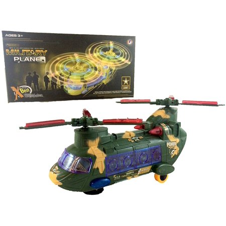 Military Toy Army Helicopter with Lights and Sound!