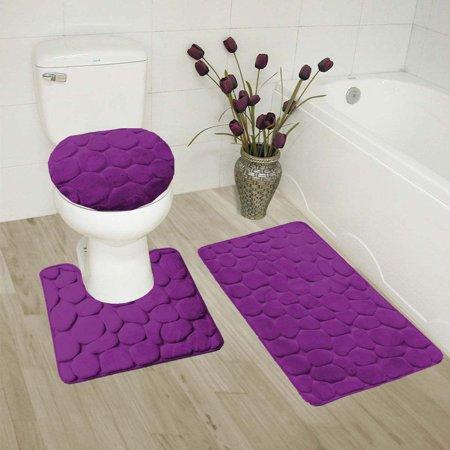 Bathroom Mats Set 3 Piece - Extra Soft Shower Bath Rugs Mat 30